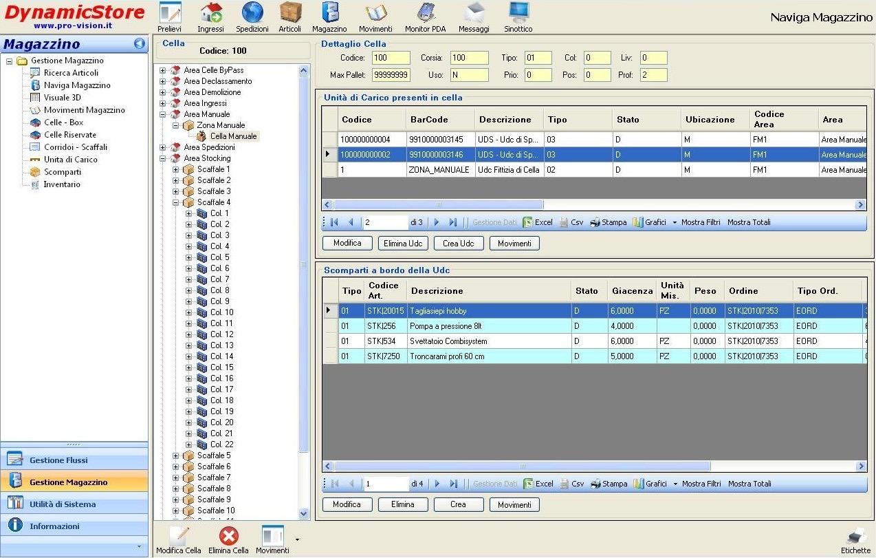 Navigazione magazzino - IMS (Informationn Management System)